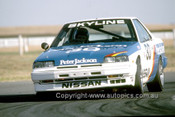 86057  -  George Fury - Nissan Skyline Turbo - Sandown 13th April 1986 - Photographer Ray Simpson