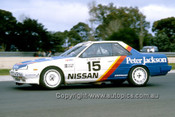 87043-  G. Seton / G Fury - Nissan Skyline - Castrol 500 Sandown 1987 - Photographer Ray Simpson