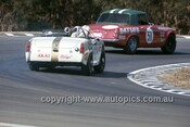 Doug Whiteford, Datsun 2000 & David Bowden, MG Midget - Warwick Farm 1970 - Photographer  Russell Thorncraft
