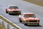 Bob Jane, Camaro & Allan Moffat, Trans AM Mustang - Oran Park 1971 - Photographer Russell Thorncraft