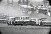 66779  - Paddy Hopkirk & Brian Foley / Bill Stanley & Fred Gibson, Morris Cooper S - Gallaher 500 Bathurst 1966 - Photographer Lance J Ruting