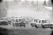 66781  - Doug & Doug Jnr. Chivas, Morris Cooper S Car 33 - P. Williamson & A. McCarthur, Toyota Corona Car 34 - Gallaher 500 Bathurst 1966 - Photographer Lance J Ruting