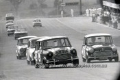 66782  - J. French & S. Harvey Car 23 - Mander & Davis Car 27 - G. Forrest & F. Hann Car 25, Morris Cooper S - Gallaher 500 Bathurst 1966 - Photographer Lance J Ruting