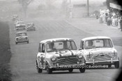 66784  - Rick Radford & David Bye Car 19 - Bruce McPhee & Barry Mulholland Car 22, Morris Cooper S - Gallaher 500 Bathurst 1966 - Photographer Lance J Ruting