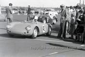 57438 - J Sayer Porsche Spyder - Fishermans Bend - 1957 - Photographer Peter D'Abbs