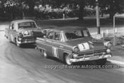 56002 - Len Lukey & Norm Beechey, Ford Customlines - Albert Park 1956