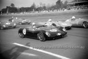 63421 - I. Geoghgean Lotus 23, G. Cusack Elfin Mallala & J. Martin Lola Climax - Warwick Farm 1963 - Photographer Bruce Wells