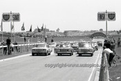 64114 -  Start of the Sandown 6 Hour International  29th November 1964 -  Studebaker Lark's & Galaxie on the front row -  Photographer  Peter D'Abbs