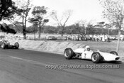 65567 - Frank Gardner, Brabham BT11A Climax & Jim Clark Lotus 32B - Tasman Series   Longford 1965