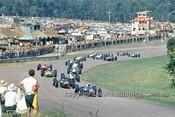 66621 - Jackie Stewart BRM, Graham Hill BRM, Jim Clark Lotus 39 - First Lap of the Lakeside Tasman Series, 1966