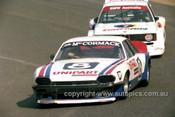 80073  -  John McCormack, Jaguar & Allan Grice, BMW - Amaroo 1980 - Photographer Lance J Ruting
