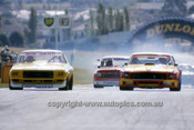 75071 - Bob Jane  Holden Monaro , Jim Richards, Mustang & Ron Harrop Holden EH - Sandown 1975 - Photographer Peter D'Abbs