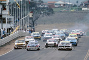 76700  - The Start of the Hardie Ferodo 1000 - Bathurst 1976 - Allan Moffat  Ford Falcon XB GT& Peter Brock, Torana L34 on the front row.
