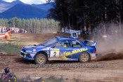 200901 - Possum Bourne & Mark Stacey, Subaru Impreza WRX - Winner of the Rally of Canberra 2000