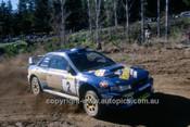 200902 - Possum Bourne & Mark Stacey, Subaru Impreza WRX - Winner of the Rally of Canberra 2000