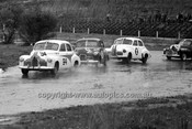 64119 - David  Tonks, Bob Anderson, B. Shore & Norm Gown Folden FX - Hume Weir 20th September 1964 - Photographer Bruce Wells