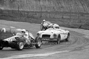 64421 - J. Crocker, Mowag / M. Considine, Austin Healy & Ross Bond MGA  - Hume Weir 20th September 1964 - Photographer Bruce Wells