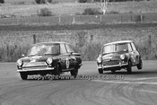 65088 - George Garth Cortina GT & John Harvey, Austin Cooper S - 14th April 1965 - Bathurst