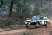 77935 - Stig Blomqvist & Hans Sylvan Saab 99 EMS - 1977 Southern Cross Rally - Photographer Lance J Ruting