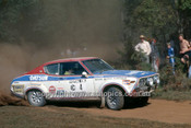 77938 - Harry Kallstrom & Claes Billstam, Datsun 710 - 1977 Southern Cross Rally - Photographer Lance J Ruting