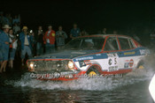 77939 - Shekah Mehta & Adrian Mortimer, Datsun 710 - 1977 Southern Cross Rally - Photographer Lance J Ruting