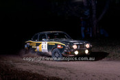 77944 - Kenjiro Shinozuka & Garry Connely, Mitsubishi Lancer - 1977 Southern Cross Rally - Photographer Lance J Ruting