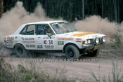 779465 - Brian Clarke  &  Bruce Ryan, Mitsubishi Galant GB - 1977 Southern Cross Rally - Photographer Lance J Ruting