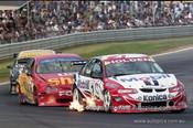 99355 - Mark Skaife, Holden Commodore VT & Paul Radisich, Ford Falcon AU- Hidden Valley Raceway, Darwin 1999 - Photographer Marshall Cass