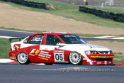 97805 - Peter Brock & Derek Warick Vauxhall Vectra - AMP Bathurst 1000 1997 - Photographer Marshall Cass