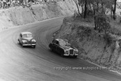 55001 - Lou Kinsley, Jaguar & J. Singleton, Holden FX - Bathurst Easter 1955