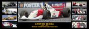 342 - Ayrton Senna in Australia - 1985 to 1993 -  A Panoramic Photo 30x10inches.