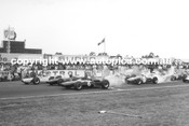 64505 - Start of the Horden Trophy - 1964  -  Front Row - Stillwell / Geoghegan / Matich - Warwick Farm 1964 - Photographer Lance Ruting