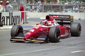 93517 - Gerhard Berger, Ferrari  - Australian Grand Prix Adelaide 1993 - Photographer Marshall Cass