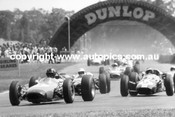 First Lap 1965  -  Hill-Clark-Matich-McLaren-Brabham - 1965 Tasman Series - Warwick Farm