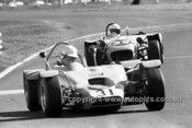 72377 -  David Medley, Hargal BMC & John Horswell, Lotus7 Ford  - Warwick Farm  1972 - Photographer Lance J Ruting