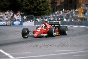 86532 - Stefan Johansson  Ferrari - 3rd Place AGP Adelaide 1986 - Photographer Ray Simpson