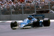 85517 - Philippe Streiff  Ligier-Renault - 3rd Place AGP Adelaide 1985 - Photographer Ray Simpson