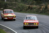 75082 - John French, Alfa Romeo GTV & Bob Holden, Ford Escort - Amaroo 1975 - Photographer Lance J Ruting