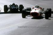 67609 -  John Surtees  Honda  & Pedro Rodriguez  Cooper-Maserati - Monaco Grand Prix 1967 - Photographer Adrien Schagen