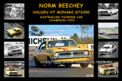 335 - Norm Beechey - A collage of his Holden HT Monaro GTS 350