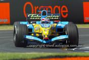 205515 -  Fernando Alonso  Renault - 3rd Place Australian Grand Prix 2005 - Photographer Marshall Cass