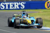 204504 - Fernando Alonso  Renault - 3rd Place Australian Grand Prix Albert Park 2004 - Photographer Marshall Cass