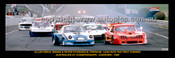 331 - GRICE, MONZA & FITZGERALD, PORSCHE  AUSTRALIAN GT CHAMPIONSHIPS - SANDOWN - 1984 - A Panoramic Photo 30x10inches.