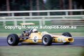Frank Gardner  -  Mildren Alfa V8  Tasman Series - Warwick Farm  1969