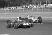 69331 - P. Ulbrich, Lynx Peugeot S/C J. Mellan, Brabham Ford - Warwick Farm 1969 - Photographer Lance J Ruting.