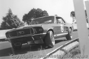 68007  -  Bob Jane   -  Mustang - Peters Corner Sandown - 1968 - Photographer David Blanch