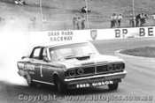 71011  -  F.Gibson - Ford Falcon GTHO Phase 3 -  Smokin  the tyres - Oran Park 1971