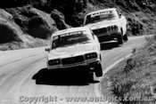 73707  -  Mollison / Hindhough & Perry / Reed  -  Bathurst 1973 - Mazda RX3 s Two  Wheeling through the dipper