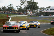 77073 - Kevin Bartlett, Falcon XB, Warren Cullen, Torana L34 & Murray Carter, Falcon XB - Sandown 1977