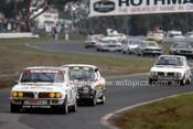 77075 - James Laing-Peach Triumph Dolomite, Rod Stevens Escort RS2000 & Ralph Radburn Triumph Dolomite  - Sandown 1977